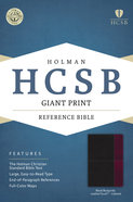 HCSB Giant Print Reference Bible Black/Burgundy Leathertouch Indexed Imitation Leather