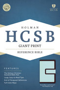HCSB Giant Print Reference Bible Brown/Blue Leathertouch With Magnetic Flap Imitation Leather