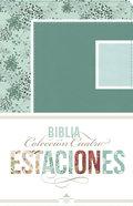 Rvr 1960 Biblia Coleccin Cuatro Estaciones Invierno Abstracto Con Verdemar/Celeste Smil Piel Seafoam/Sky (Spanish) Imitation Leather