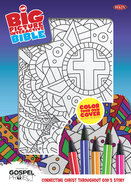 NKJV Big Picture Interactive Bible, Color-Your-Own, Cross Imitation Leather