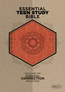 NKJV Essential Teen Study Bible Orange Cork Leathertouch Imitation Leather