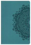 KJV Ultrathin Reference Bible Teal Leathertouch Imitation Leather