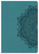 NKJV Large Print Compact Reference Bible Teal Imitation Leather
