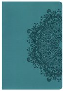 HCSB Giant Print Reference Indexed Bible Teal Leathertouch Imitation Leather