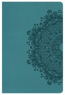 HCSB Large Print Personal Size Indexed Bible Teal Leathertouch Imitation Leather