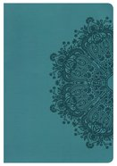 HCSB Large Print Ultrathin Reference Bible Teal Leathertouch Imitation Leather