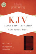 KJV Large Print Ultrathin Reference Bible, Classic Mahogany Leathertouch Premium Imitation Leather