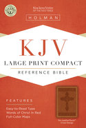 KJV Large Print Compact Reference Bible, Tan Leathertouch Premium Imitation Leather