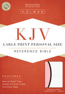KJV Large Print Personal Size Reference Indexed Bible White/Pink/Dark Brown Premium Imitation Leather