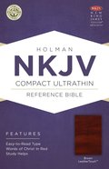 NKJV Compact Ultrathin Reference Bible Brown Premium Imitation Leather