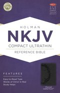 NKJV Compact Ultrathin Bible Charcoal Premium Imitation Leather