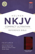 NKJV Compact Ultrathin Reference Bible Classic Mahogany Leathertouch Premium Imitation Leather
