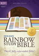 KJV Rainbow Study Bible Pink/Brown Leathertouch Imitation Leather