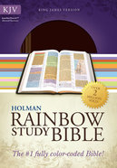 KJV Rainbow Study Bible Brown/Chestnut Leathertouch Imitation Leather