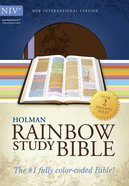 NIV Rainbow Study Bible Brown/Lavender Imitation Leather