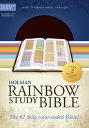 NIV Rainbow Study Bible Brown/Chestnut Leathertouch Imitation Leather