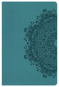 HCSB Ultrathin Reference Bible Teal Leathertouch