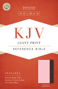 KJV Giant Print Reference Bible Pink/Brown Leathertouch