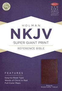 NKJV Super Giant Print Reference Indexed Bible Burgundy