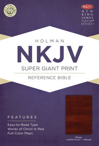 NKJV Super Giant Print Reference Indexed Bible Brown