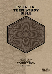 NKJV Essential Teen Study Bible Gray Cork Leathertouch