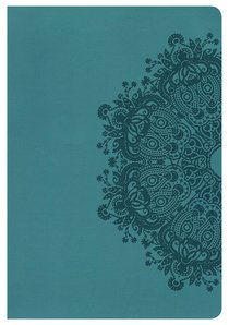 KJV Large Print Ultrathin Reference Indexed Bible Teal Leathertouch