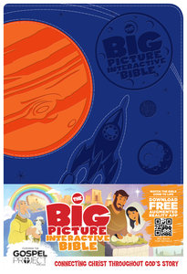 HCSB the Big Picture Interactive Bible For Kids Orange/Blue Creation Leathertouch