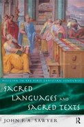 Sacred Languages and Sacred Texts Paperback