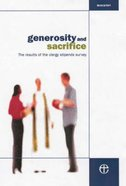 Generosity and Sacrifice Paperback