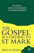 The Gospel According to Saint Mark (Black's New Testament Commentary Series) Paperback