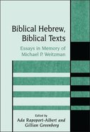 Biblical Hebrew, Biblical Texts (Journal For The Study Of The Old Testament Supplement Series)