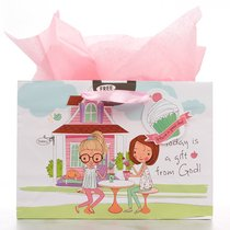 Gift Bag Large Holly & Hope: Today is a Gift From God (Incl Tissue Paper & Gift Tag)