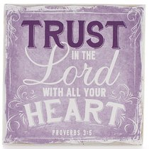 Small Wall Blocks: Finishing Strong, Trust in the Lord.. (Purple)