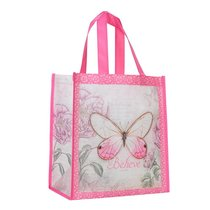 Non-Woven Totebag: Believe Butterfly Pink