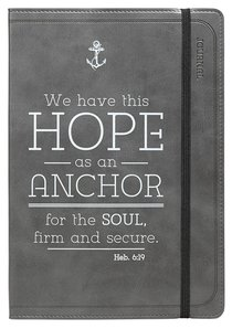 Journal: Hope as An Anchor, Black Flexcover With Elastic Closure
