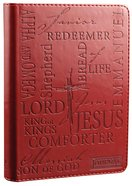 Journal: Names of Jesus Burgundy, Handy-Sized Imitation Leather
