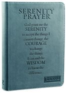 Classic Journal: Serenity Prayer Turquoise Luxleather Imitation Leather