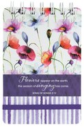 Wirebound Notepad: Seeds of Love (Purple/flowers)