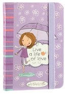 Holly & Hope Small Notebook: Live a Life of Love (Purple)