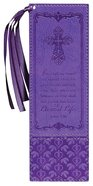 Bookmark With Tassel: John 3:16, Purple Imitation Leather