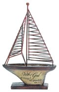 Sailing Boat: With God All Things Are Possible Homeware