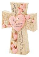 Tabletop Cross: Love 1 Cor 13:13