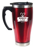 Stainless Steel Travel Mug With Handle: No Greater Love (John 3:16)