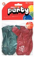 Christmas Balloons Pack of 20: Red & Green, Jesus is the Reason For the Season Novelty