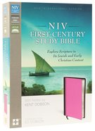 NIV First-Century Study Bible Chocolate/Orchid (Black Letter Edition)