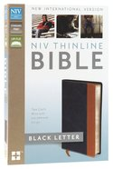 NIV Thinline Bible Blue/Tan Imitation Leather