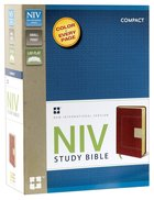 NIV Study Bible Compact Red/Tan Duo-Tone (Red Letter Edition) Imitation Leather