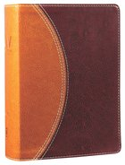NIV Study Bible Compact Tan/Burgundy (Red Letter Edition) Premium Imitation Leather