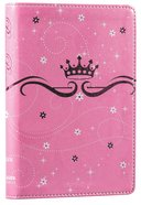 NIRV Precious Princess Compact Bible Pink Sparkle (Black Letter Edition) Premium Imitation Leather