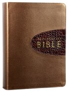 Amplified Everyday Life Bible, the Bronze With Rich Brown Alligator Insert Bonded Leather